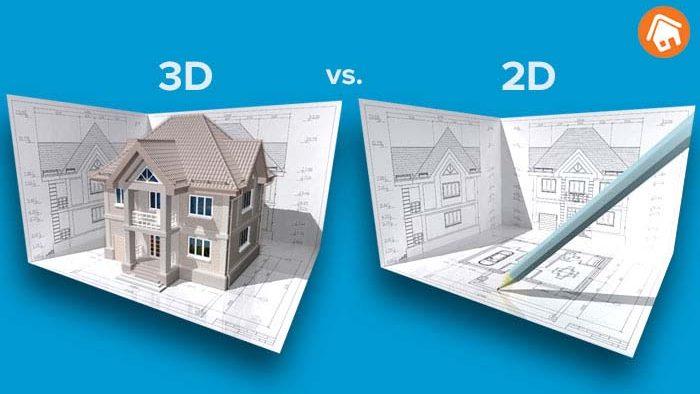 Een 3D bouwtekening vs. een 2D tekening
