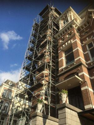 verbouwing in Amsterdam